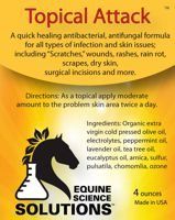 Topical Attack will cure your horse's bacterial, fungal & infections
